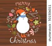 christmas illustration  cute... | Shutterstock .eps vector #501506011