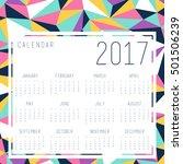 calendar template with... | Shutterstock .eps vector #501506239