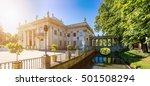 the lazienki palace  baths...   Shutterstock . vector #501508294