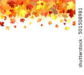 vector illustration with autumn ... | Shutterstock .eps vector #501508981