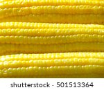 boiled yellow sweet corn  close ... | Shutterstock . vector #501513364