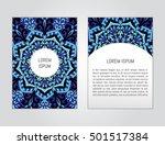 vector flyer template with hand ... | Shutterstock .eps vector #501517384