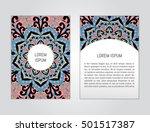vector flyer template with hand ... | Shutterstock .eps vector #501517387