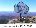 Small photo of Top of Whiteface Mountain in fall, Adirondack Mountains, New York State, USA