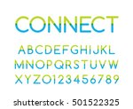 vector of modern colorful font... | Shutterstock .eps vector #501522325