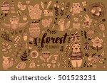 vector forest elements in... | Shutterstock .eps vector #501523231