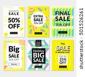 flat design sale website... | Shutterstock .eps vector #501526261