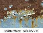 rusty metal surfaces with paint ... | Shutterstock . vector #501527941