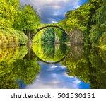 rainbow over devil's bridge in... | Shutterstock . vector #501530131