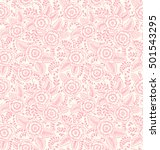 Cute Seamless Pattern In Small...