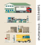 mail delivery infographic | Shutterstock .eps vector #501544891