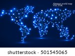 abstract polygonal world map... | Shutterstock .eps vector #501545065
