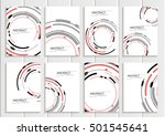 stock vector set of brochures... | Shutterstock .eps vector #501545641