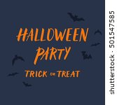 happy halloween party... | Shutterstock .eps vector #501547585