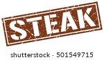 steak. grunge vintage steak... | Shutterstock .eps vector #501549715