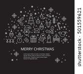 christmas celebration... | Shutterstock .eps vector #501559621