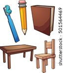 household items. vector clip... | Shutterstock .eps vector #501564469
