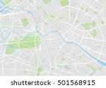 berlin colored vector map | Shutterstock .eps vector #501568915