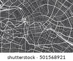 vector detailed map berlin | Shutterstock .eps vector #501568921