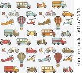 transport kids seamless pattern.... | Shutterstock .eps vector #501572515