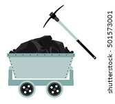 coal  mine  trolley and pickaxe ... | Shutterstock .eps vector #501573001