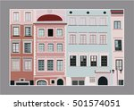 colorful houses | Shutterstock .eps vector #501574051