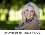 portrait of a mature woman... | Shutterstock . vector #501574729