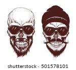 two modern skull with... | Shutterstock .eps vector #501578101