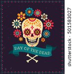 dia de los muertos. day of the... | Shutterstock .eps vector #501583027