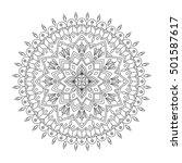 floral mandala  vector... | Shutterstock .eps vector #501587617