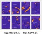 stock vector set of brochures... | Shutterstock .eps vector #501589651