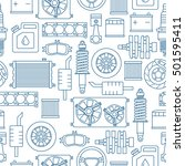 auto spare parts seamless... | Shutterstock .eps vector #501595411