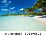 beautiful beach and tropical sea | Shutterstock . vector #501595621