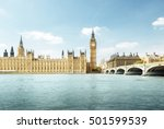 big ben and houses of... | Shutterstock . vector #501599539