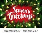 season's greetings christmas... | Shutterstock .eps vector #501601957