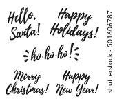 christmas cards vector... | Shutterstock .eps vector #501606787