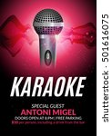karaoke party invitation poster ... | Shutterstock .eps vector #501616075
