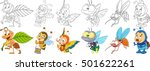 cartoon animals set. collection ... | Shutterstock .eps vector #501622261
