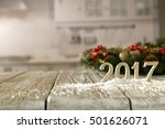 new for 2017 in the winter... | Shutterstock . vector #501626071