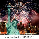the statue of liberty and...   Shutterstock . vector #50162713