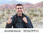 grand canyon travel   happy man ... | Shutterstock . vector #501629911