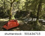camping in patagonia  argentina.... | Shutterstock . vector #501636715