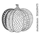 Zentangle Stylized Pumpkin....