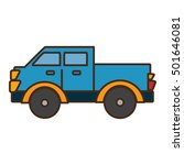 van vehicle transport isolated... | Shutterstock .eps vector #501646081