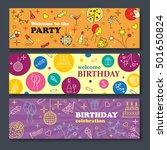 happy birthday card. confetti ... | Shutterstock .eps vector #501650824