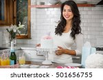 wife mother homemade holiday... | Shutterstock . vector #501656755