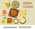 indian cuisine vegetarian pilau ... | Shutterstock .eps vector #501662341