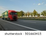 speeding truck   Shutterstock . vector #501663415