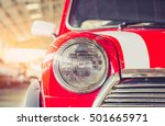 headlight  lamp of vintage cars | Shutterstock . vector #501665971
