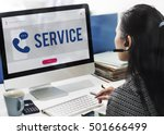 mobile phone customer service... | Shutterstock . vector #501666499